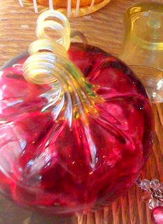 Beautiful Glass Pumpkin Pumpkin Decorating, Fall Decorating, Glass Floats, Cranberry Glass, Pumpkin Art, Glass Pumpkins, Glass Figurines, Vases, Art For Art Sake