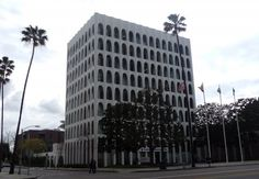 Home Federal Savings/Pacific Mercantile Bank Building - Los Angeles - Edward Durell Stone 1961