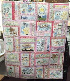 Julie made this adorable quilt for her granddaughter using Anita Goodesign Nursery Rhymes design CD