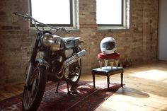 motorcycle/moped as art