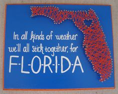 University of Florida string art #GoGators, inspired by a project from:  theharpsterhome.wordpress.com