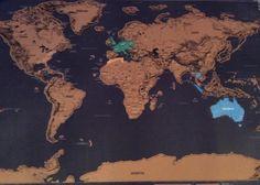Shinap - Scratch Map Weltkarte Poster
