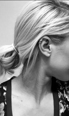 Rook and helix cartilage pair ear piercings <3 #piercing #earpiercing #ad