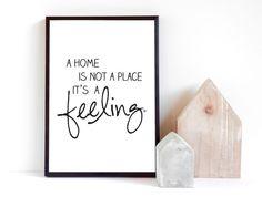 Originaldruck - Print ♥feeling home♥ A4 - ein Designerstück von mbelle bei DaWanda