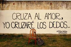 Cruza el amor uploaded by Accion Poetica on We Heart It Favorite Quotes, Best Quotes, Love Quotes, Music Quotes, Music Songs, Street Quotes, Short Words, Under My Skin, Spanish Quotes