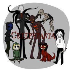 Eyeless Jack, Ben, Slender Man, Zalgo, The Rake, Smile.jpg and Jeff the Killer