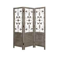 3 Panel Divider with Filigree in Gray