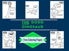 The Good Dinosaur Coloring Pages + More