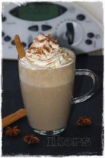 Cappu Banana(1 große oder 2 kleine Portionen)  25 g weiße Schokolade 10 Sek./St.7  350 g Milch1 Portion (ca. 2 TL) Instant Espresso1 EL Zuckeretwas Zimt  5 Min./100°/St.1  1 reife Bananezugeben 15 Sek