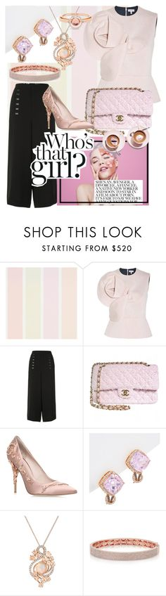 """""""Pinkish-Pink Look"""" by unicorn1109 ❤ liked on Polyvore featuring Whiteley, Delpozo, Uma 