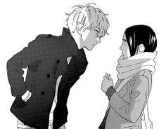 Suzume X Mamura | hirunaka no ryuusei #manga #monochrome