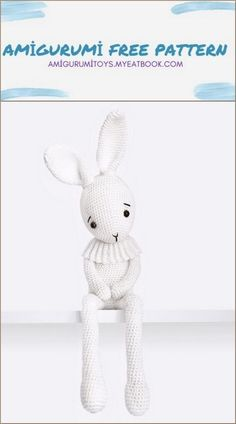 Amigurumi Lucky the Bunny Free Pattern - amigurumitoys.myeatbook.com Single Crochet Decrease, Single Crochet Stitch, Half Double Crochet, Chain Stitch, Slip Stitch, Yarn Over, Amigurumi Toys, Crochet Stitches, Free Pattern
