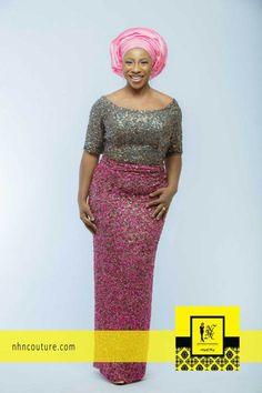 NHN Couture Asoebi Style in Pink and Grey #pinkasoebi #pinkcombo #pinkandgrey #pinkcolorinspiration #asoebi