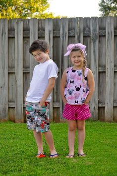 Potato Chip Shorts and Pants Pattern Boys and Girls Easy Sewing Pattern