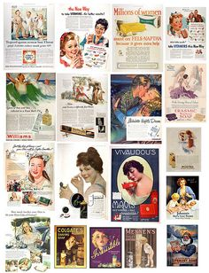 vintage ads printables - FREE to use
