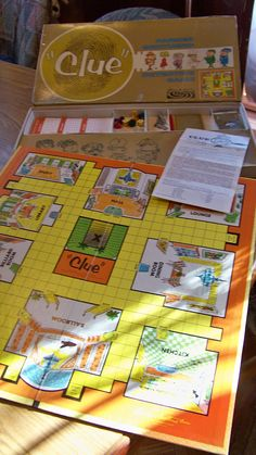 Vintage 1950 Clue Board Game