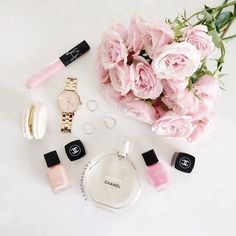 Imagen de chanel, pink, and flowers