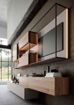 units for living room interior design Modern Tv Wall, Living Room Modern, Interior Design Living Room, Design Bedroom, Design Interiors, Living Rooms, Lcd Wall Design, Bedroom Tv Wall, Bedroom With Tv