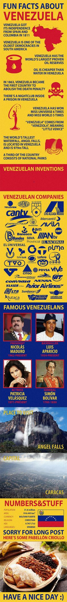 Fun Facts about Venezuela #culturetravelcountry