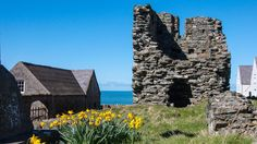 Bardsey's ruined abbey tower (Credit: Credit: Amanda Ruggeri)