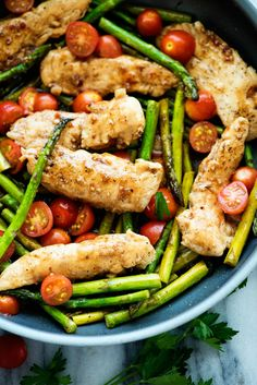 A heavenlyglaze coats this ONE PANBALSAMIC CHICKEN AND VEGGIES meal. This dish is packed with flavor and it's good for you! The entire family will ask for this one again.