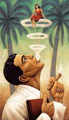 Cuba Travel poster - Cuban Cigar Art TravelPhotoTours.com