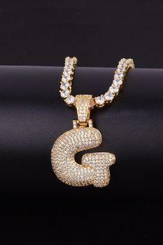 Eif Alphabet Necklace Pendant Necklace Mens Womens Capital Letter Fashion Personality boss Letter Trendy Accessories