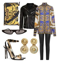 """Versace fever"" by jasminsangalyan on Polyvore featuring Versus, J Brand, Versace and Dolce&Gabbana"