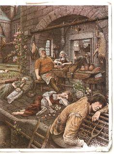 """Иллюстратор Roberto Innocenti.Сказки Шарля Перро.Сказка """"Спящая красавица"""".Страна Италия.Год издания 1985..............................................."""