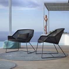 Breeze lounge chair, black - Outdoor furniture - Outdoor - Finnish Design Shop