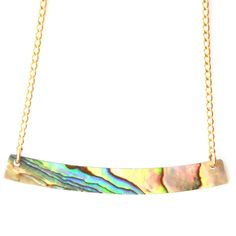 Best Seller! iridescent Abalone Shell Bar Necklace   BELLABEACHJEWELS.COM mermaid jewelry