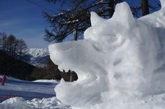 Sculpture sur neige - Les Orres - by Philippe Minier - crédit photo Alice Simonard