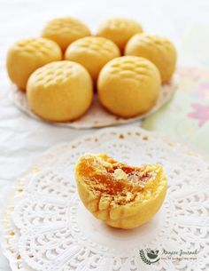 These pineapple tarts are small bite size pastries filled with pineapple jam which made in typical shapes for Chinese New Year.
