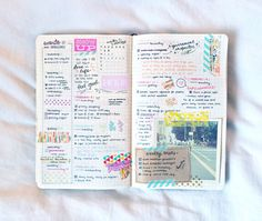 studyrose: february 15 // 8:13 happy monday! here's my bujo spread from last week – i got a little behind at the end there, and just sort of scribbled in the days, but! at least i filled it out. :D now i'm going to go drink my weight in green tea ◕3◕