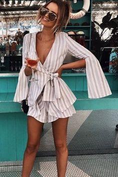 Fabulous #stripes Dress With #sunglasses #summerfashion #summerstyle #womenfashion #fashion