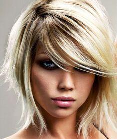 Art short layered hair to-cut-my-hair Medium Hair Cuts, Medium Hair Styles, Short Hair Styles, Medium Cut, Pixie Styles, Short Choppy Hair, Short Hair With Layers, Short Blonde, Long Bangs