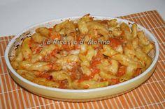 Pasta zucca porcini e salsiccia al forno
