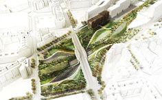 La Sagrera Linear Park design competition   Barcelona Spain   AldayJover, RCR and West 8 - Welcome Garden