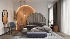 Orange bedroom inspired by reference on Behance Bedroom Wall Designs, Room Design Bedroom, Modern Bedroom Design, Bedroom Colors, Home Interior Design, Bedroom Decor, Bungalow Interiors, Hotel Room Design, Master Bedroom Interior