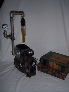 #Vintage steampunk #industrial film #projector lamp light weird man cave ooak, View more on the LINK: http://www.zeppy.io/product/gb/2/272219907628/