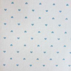 LE COUPON DE 3 METRES imprimé petit coeur ciel pour 15 €