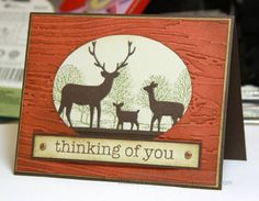 ............ thinking of you... deer card for OWH by airbornewife - Cards and Paper Crafts at Splitcoaststampers