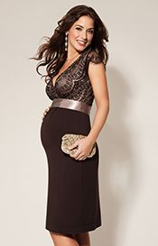 Rosa Maternity Dress Mocha