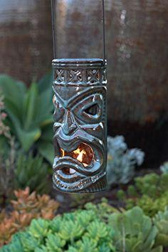 Amazon.com : Tiki-Hanging Lantern-Kona : Outdoor Tabletop Lanterns : Patio, Lawn & Garden
