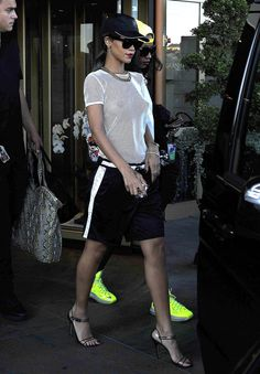 Rihanna - basketball shorts - aug 2016