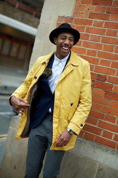 La Touche, Yellow Jacket, Menswear, Hat,