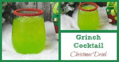 Looking for a drink for Christmas? Try this simple Grinch cocktail. It is a tasty drink that your adult guests will love at a Christmas party.