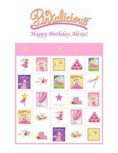 Pinkalicious Purplicious Goldilicious Birthday Party Game Bingo Cards | eBay