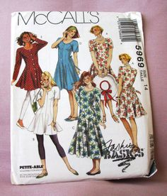 1992 Uncut  McCalls Pattern 5969 Misses by lovelylovepatterns, $4.50