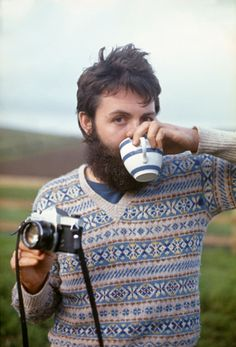 paul in a fantastic sweater